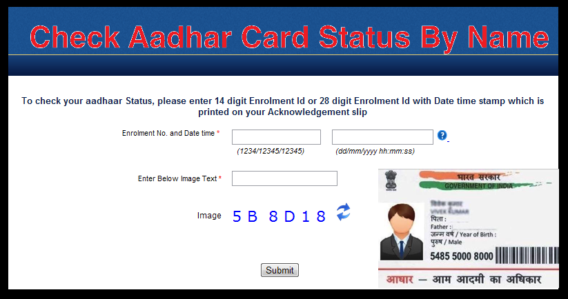 Aadhaar Card Search by Name and Father Name